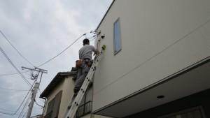 壁穴の防水施工も注意します